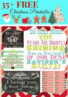 35+ Free Christmas Printables for Crafting, Scrapbooking & More - Two Kids and a Coupon