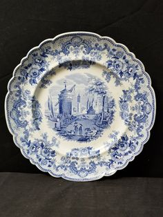 Pottery A Lovely Vintage Alfred Meakin Oval Plate/platter Blue On White,leighton Pattern Alfred Meakin
