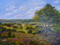 "Original painting - Acrylic Landscape - Title: ""Autumn's First Blush"". $125.00, via Etsy."