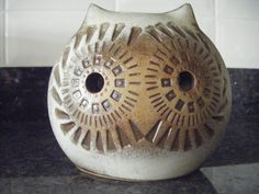 Vintage Owl Money Box/Piggy Bank