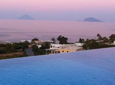 View from the pool, Hotel Ravesi, Salina, Aeolian Islands, Italy