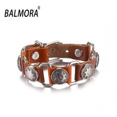 Aliexpress.com: Buy Wholesale Handmade Leather Bracelets for Women Men's 23cm Sunflower Fashion Leather Bracelet for Gift Free Shipping FSH003 A reliable pvc bracelet suppliers at BALMORA Jewelry Factory Store