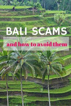 Bali scams and how to avoid them. Good general advice.