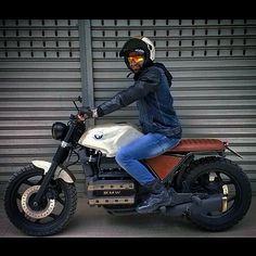 K Cafe Bike, Cafe Racer Bikes, Cafe Racer Motorcycle, Cafe Racers, Custom Street Bikes, Custom Bikes, Bobber, K100 Scrambler, Bmw K100