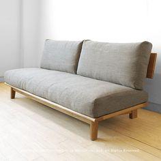 日本製 ファブリックはカバーリング 木製ソファ。受注生産商品 タモ材 タモ無垢材 木製フレーム カバーリングソファー 国産ソファ 木製ソファ 1P 2P 2.5P 3Pソファ STELLA2-LS3P ※サイズによって金額が変わります! Muji Furniture, Diy Pallet Furniture, Home Decor Furniture, Diy Home Decor, Furniture Design, Pallet Sofa, Wood Sofa, Minimalist Sofa, Creation Deco