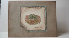Nature's Nest Thank You card by irvinehouse - Cards and Paper Crafts at Splitcoaststampers