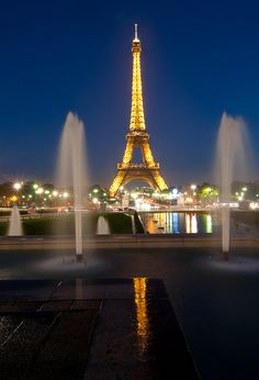 Eiffel Tower, Fountain, Paris