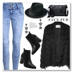 """""""Keep it Cozy: Fuzzy Coats (Street Style)"""" by jecakns ❤ liked on Polyvore"""