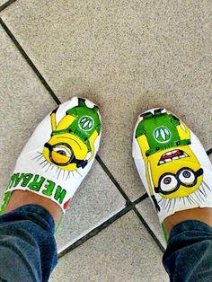 Zapatos pintados a mano de Herbalife and Minions