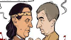 Kresba: Vinnetou a Old Shatterhand, pokrevní bratři zpečetili své přátelství Good Jokes, Funny Jokes, Jokes Quotes, Humor, Anime, Funny Pranks, Cheer, Good Funny Jokes, Jokes