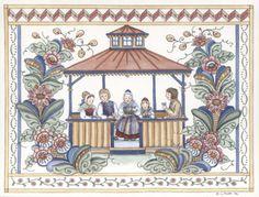 Linda Allen Folk Art Card