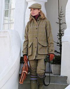 Laksen Dee Tweed jakke og cap (Hubertushuset)