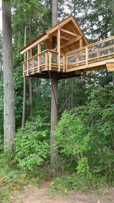 Best Tree House Designs art design landspacing to plant Beautiful Tree Houses, Cool Tree Houses, Treehouse Masters, Treehouse Builders, Treehouse Ideas, Tree House Plans, Diy Tree House, Tree House Designs, Backyard