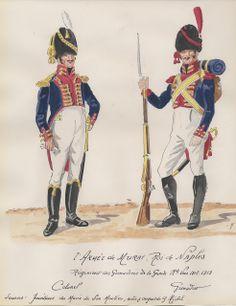 Colonnello e granatiere del rgt. granatieri della guardia imperiale del regno di Murat