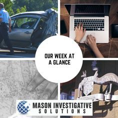 Private Investigator in Gilbert, AZ. This week we worked on 2 fatal accidents, a complex social media investigation, discrete locate, and a federal criminal defense case.   What can we do for you? Call 800-653-1128 for a free consultation.