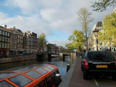 This is Prinsengracht, outside  Anne's house. Amsterdam, Holland. #amsterdam #holland
