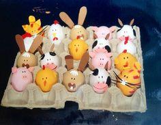 Farm Crafts, Rock Crafts, Crafts For Kids, Easter Egg Crafts, Easter Eggs, Easter Bunny, Confetti Eggs, Easter Egg Designs, Diy Ostern