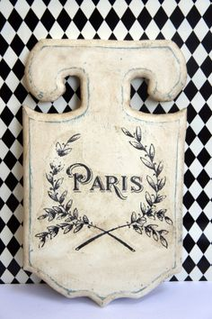 Paris Wood Plaque by kathycreativehome on Etsy, $10.00