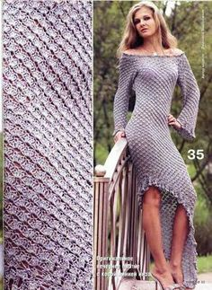 Edivana Croche: Vestido Longo