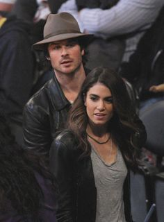 Nikki and Ian.   Well they sure will make beautiful babies if it's true.  Engaged?