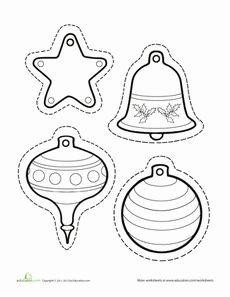 Paper Christmas Ornaments Worksheet
