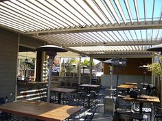 Commercial Aluminum Louvered-Roof Patio Cover