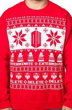 Doctor Who Dalek Christmas Sweatshirt