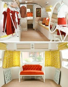 Austin, Texas boutique Adelante has repurposed an Airstream into the chicest… Vintage Camper Interior, Airstream Interior, Vintage Airstream, Vintage Caravans, Vintage Trailers, Vintage Campers, Airstream Living, Mobile Boutique, Mobile Shop