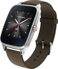 Asus ZenWatch 2 Silver Case with Rubber Strap Smartwatch Free Shipping Worldwide