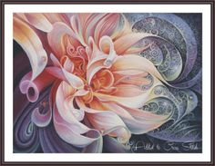 Cross Stitch Peony Flower Cross Stitch by Addict2CrossStitch
