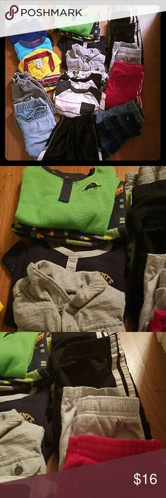 2T bundle boy 4 t-shirts, 4 pants. 4 long sleeve tops, one pj's set, 5 pairs shorts Shirts & Tops Tees - Short Sleeve