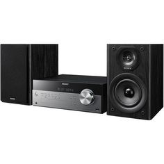 Sony Micro Hi-fi Shelf System with Single Disc Cd Player, Bluetooth, USB Input, 2-Way, Bass Reflex Speakers, AM/FM Radio With 30 Station Presets (20 Fm / 10 Am), Clock with Separate Sleep and Play Timers, Selectable Bass Boost and Adjustable Bass/treble, Rear Auxiliary Inputs, Remote Control, Black
