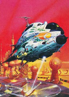 "martinlkennedy: "" Peter Jones - The Undercover Aliens (1975) from his retrospective art book 'Solar Wind' (1980) """