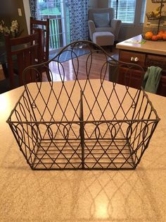 NEW French Wire Convertible Basket Southern Living at Home/Willow House #SouthernLiving