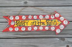 Party On the Patio Party Sign Party Door by BluePickleDesigns, $32.00