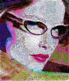 "Saatchi Online Artist John Lijo Bluefish; Collage, "" Laetitia Casta abstract Fantasy"" #artReal beauty is to be true to oneself. That's what makes me feel good. -Laetitia Casta made out of abstracts. Dimension 60 x 70 inches - Canvas"