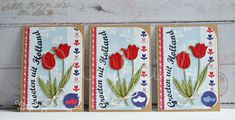 Cards made by Wybrich: ATC- Tulips