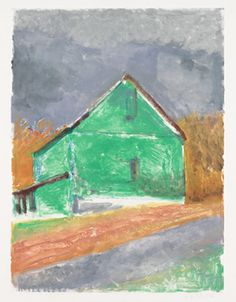 Wolf Kahn Green Barn, 2012 Monotype 44 x 35 inches