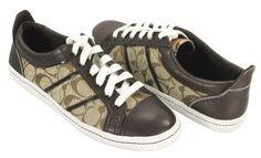 Coach Women's Alivia Signature C Jacquard & Leather Sneakers, Style A0495