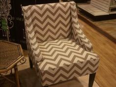 coral chair with blue accents. tj maxx!   dwell   pinterest