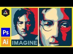 Create The Obama Hope Poster Style In Adobe Illustrator - YouTube