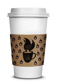 Hot Coffee by Alan Guzman Chavez, via Behance. Now that's a smart coffee cup #packaging holder PD