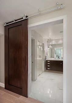 8FT Ceiling mount sliding barn wood door track stainless steel ceiling bracket hardware for interior door