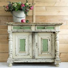 Inspiration for TV Buffet - Stone and Antique White