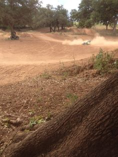 Epic wipeout at motocross track