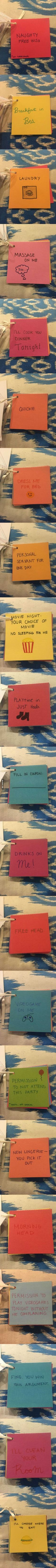 This Guy's Girlfriend Made Him Coupons For Their Anniversary More #boyfriendgiftsideas