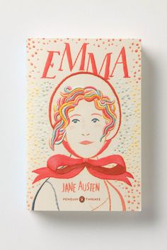 """Emma"" embroidered. Would love to see more books done this way."
