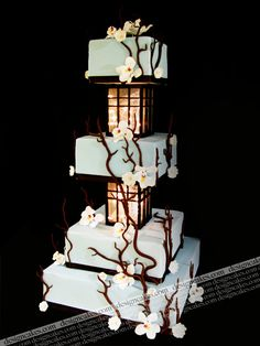 I think those are working lights in there! This is one of my favorite cakes! (I think I say that for every other cake in Design Cake's portfolio though.)