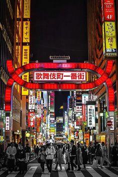Super cliche Kabukicho sign Aesthetic Japan, Night Aesthetic, Shinjuku Tokyo, Tokyo Japan, Bbq World, Japan Landscape, Red Light District, Visit Japan