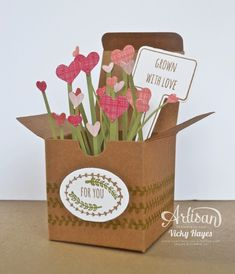 Stampin' Up ideas and supplies from Vicky at Crafting Clare's Paper Moments: Sending love in a box From the Garden - Stampin' Up Artisan blog hop